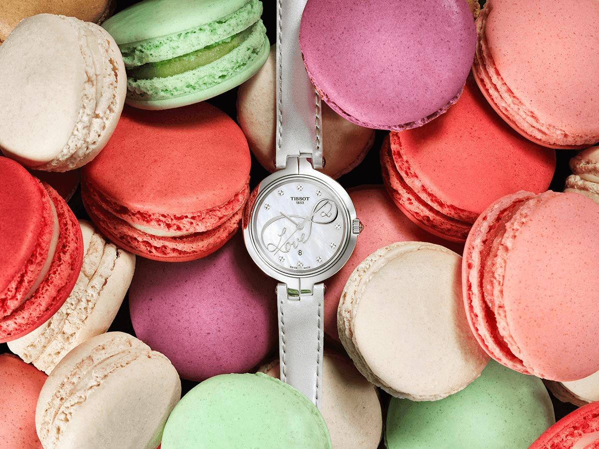 đồng hồ nữ kim cương Tissot Flamingo