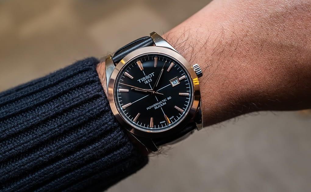 đồng hồ nam Tissot Gentleman Powermatic 80 màu đen