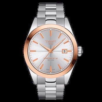 đồng hồ nam TISSOT GENTLEMAN POWERMATIC 80 SILICIUM 18K GOLD T927.407.41.031.00